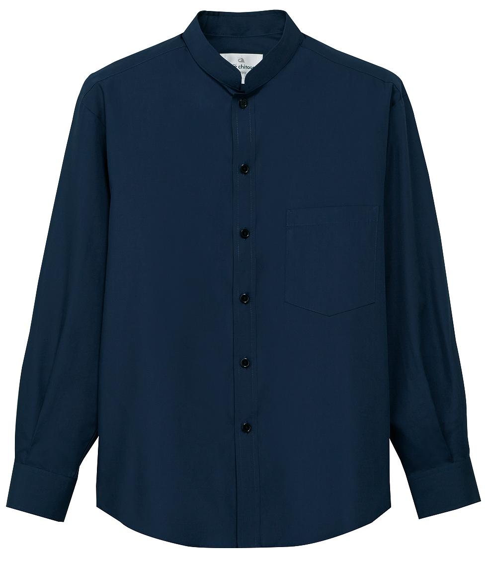 5ad14be51feafc 立えり業務用長袖シャツを1枚から通販 | ユニフォームの制服道場!